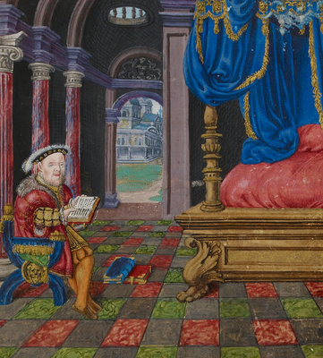 Henry VIII as King David by Anonymous - print