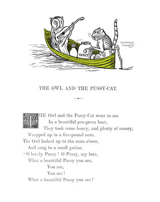The Owl and the Pussycat by Edward Lear - print