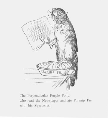 Purple parrot by Edward Lear - print