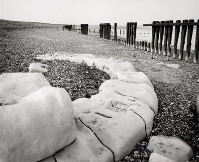 Groynes and older stone groynes by Fay Godwin - print