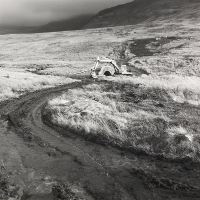 Welsh Water Authority bulldozing bronze-age tracks by Fay Godwin - print