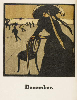 December by William Nicholson - print