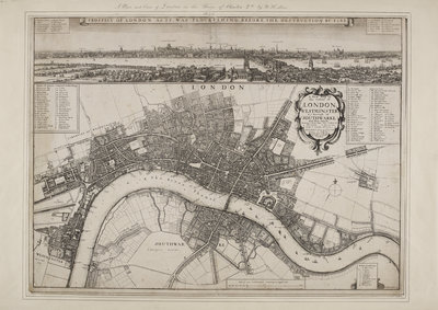 Wenceslaus Hollar's Map of London by Wenceslaus Hollar - print