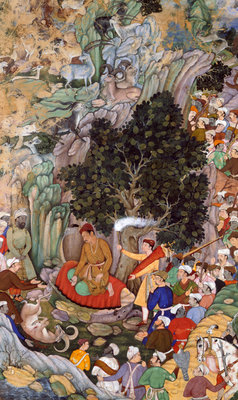 Akbar ordering the slaughter to cease in 1578 by Miskina - print