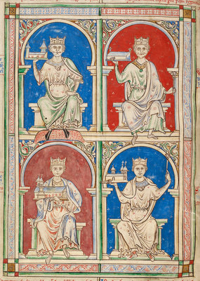 English Kings from William I to Stephen by Anonymous - print