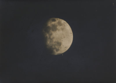 Photograph of the moon by Nevil Story-Maskelyne - print