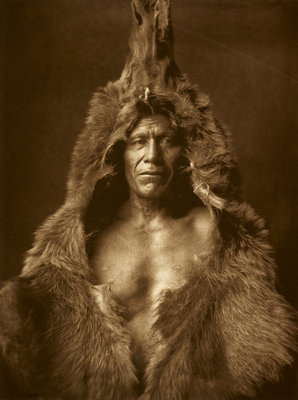 Bear's Belly - Arikara, 1908 by Edward Sheriff Curtis - print