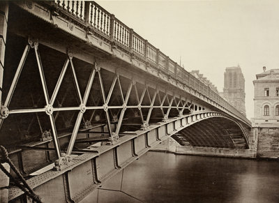 The Pont d'Arcole, Paris, c.1870s by unknown - print