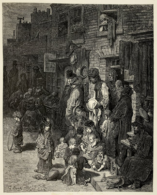 The Poor of London by Gustav Dore - print