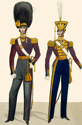 British army uniforms by Anonymous - print
