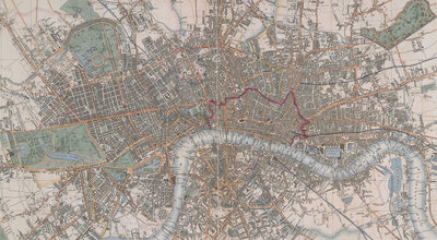 Cross's Map of London by Cross - print