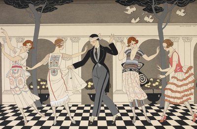 L'armour est aveugle print by George Barbier - print