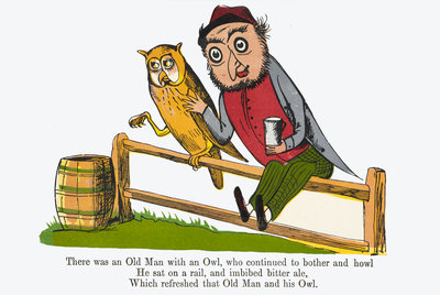 There was an Old Man with an Owl by Edward Lear - print