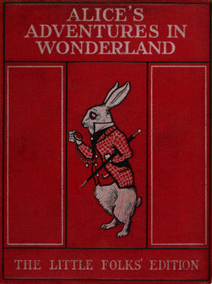 Alice in Wonderland book cover by Sir John Tenniel - print
