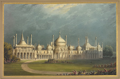 The Royal Pavilion at Brighton by John Nash - print