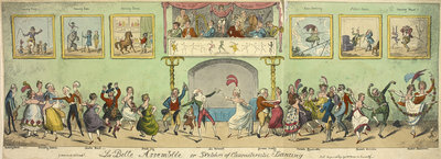 Sketches of characteristic dancing by George Cruikshank - print