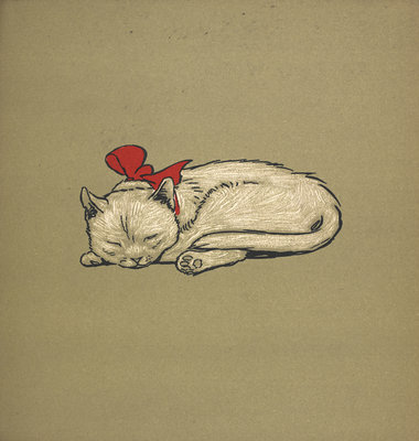 Kitten taking a nap by Cecil Aldin - print