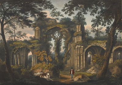 Netley Abbey by J. B. Harraden - print