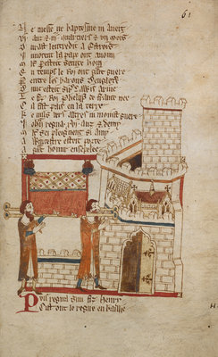The burial of King John by Anonymous - print