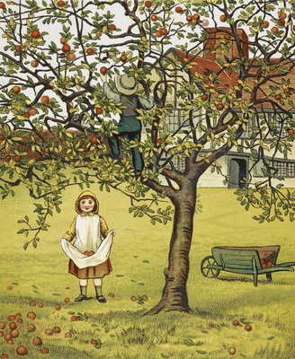 Apple picking by J G Sowerby, Thomas Crane - print