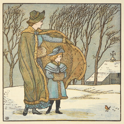 The North Wind and the Robin by Walter Crane - print