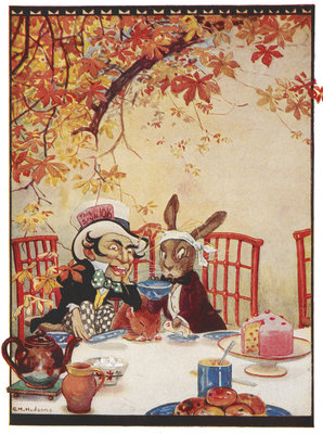 The Mad Hatter's Tea party by Gwynedd M Hudson - print