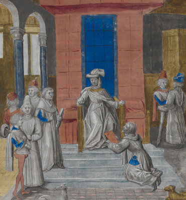 Charles the Bold receiving Vasco da Lucena's text by Anonymous - print