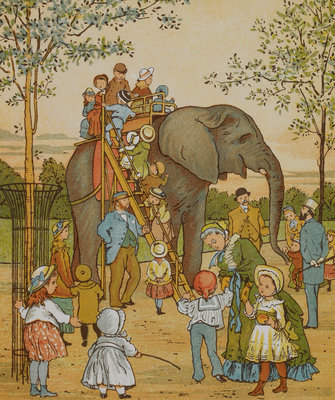 The elephant ride by Thomas Crane - print