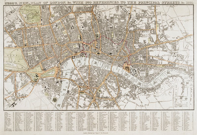Plan of London (1830) by Thomas Tegg - print