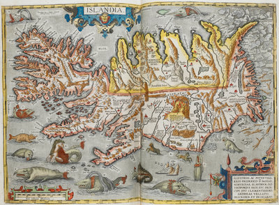 Map of Iceland by Abraham Ortelius - print
