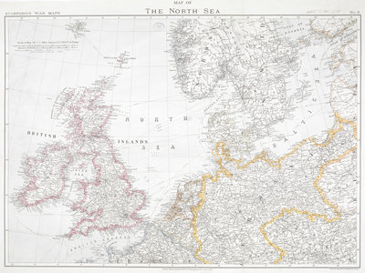 First World War map of the North Sea, 1914 by Anonymous - print