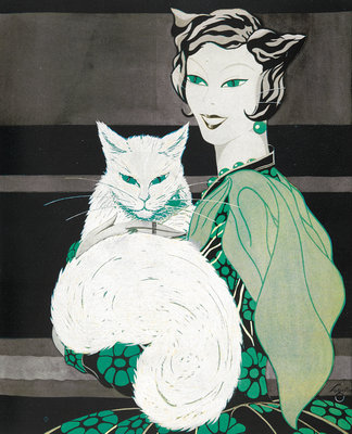 Green-eyed cat by Sogata - print