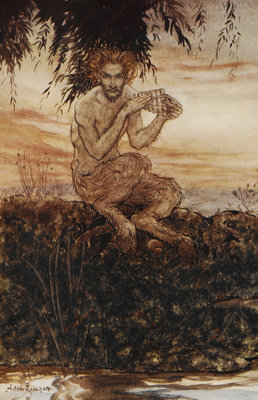 Pan the Friend and Helper by Arthur Rackham - print