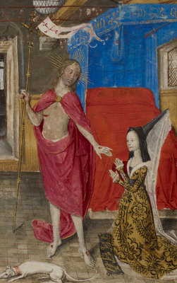 Margaret of York in dialogue with the Resurrected Christ by Anonymous - print