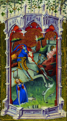 Saint George by Associate of the Beaufort Saints Master - print