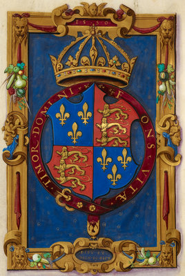 Arms of Edward VI by Anonymous - print