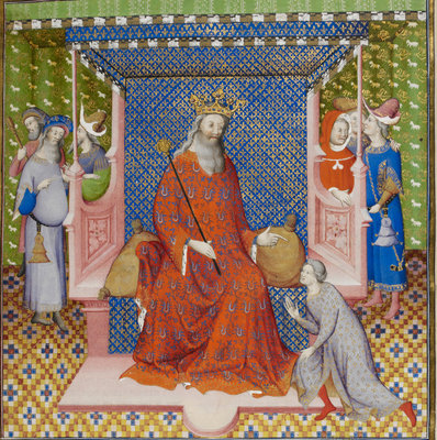 King Solomon instructing his son by Anonymous - print
