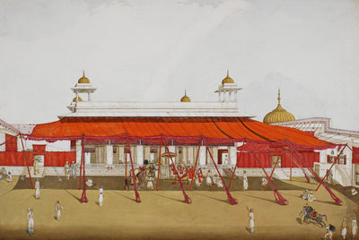 Divan-i Khas in the Delhi palace by Ghulam Ali Khan - print