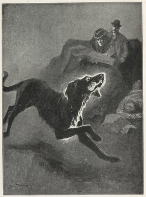 The Hound of the Baskervilles by Sidney Paget - print
