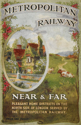 Metropolitan Railway: Near and Far Wall Art & Canvas Prints by Anonymous