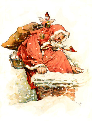 Father Christmas by Lizzie Lawson - print