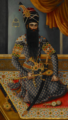 Fath 'Ali Shah King of Persia 1797-1834 by Mirza Baba - print