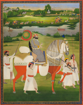 Maharaja Mohkam Singh of Kishangarh Poster Art Print by Anonymous