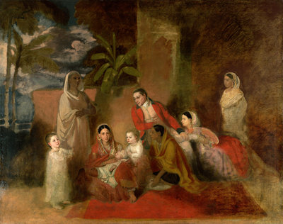 The Palmer family Fine Art Print by Johann Zoffany