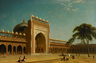 Quadrangle of the Jami Masjid, Fatehpur Sikri Poster Art Print by William Daniell