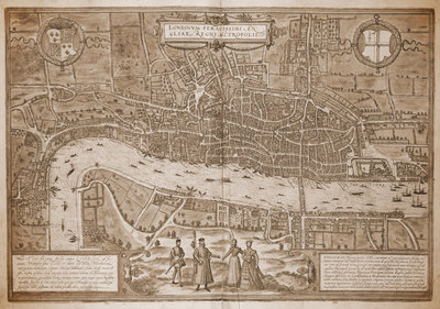 Map of London by Georg Braun - print