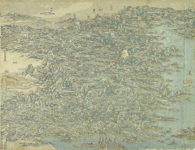 Hokusai's Map of China by HOKUSAI - print