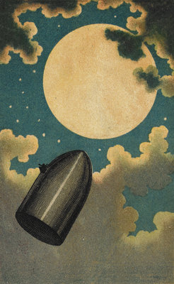 The Moon Voyage by Emile Antoine Bayard - print