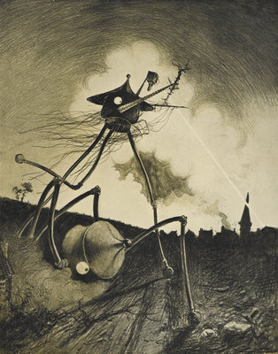 The Martians Attack by Alvim Correa - print