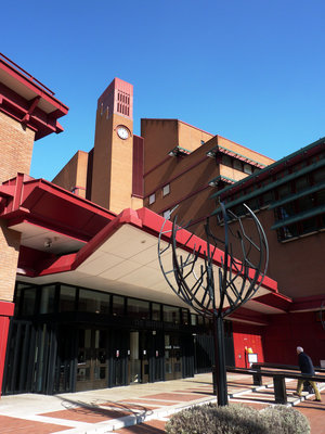 British Library entrance by Tony Antoniou - print